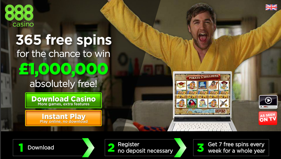 888 Casino 365 free spins