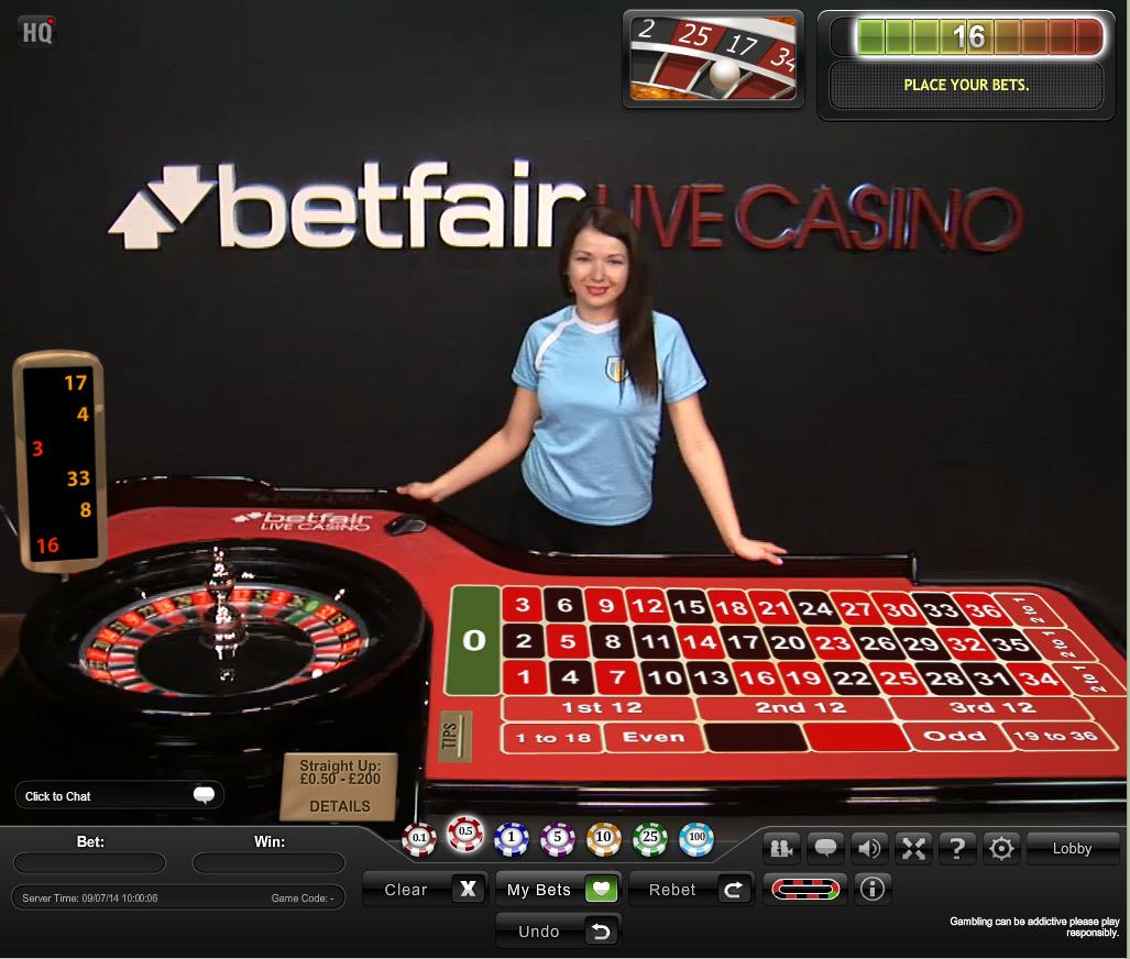 Betfair No Deposit Live Casino