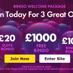 Bet 365 Bingo – up to £1000 in Prizes